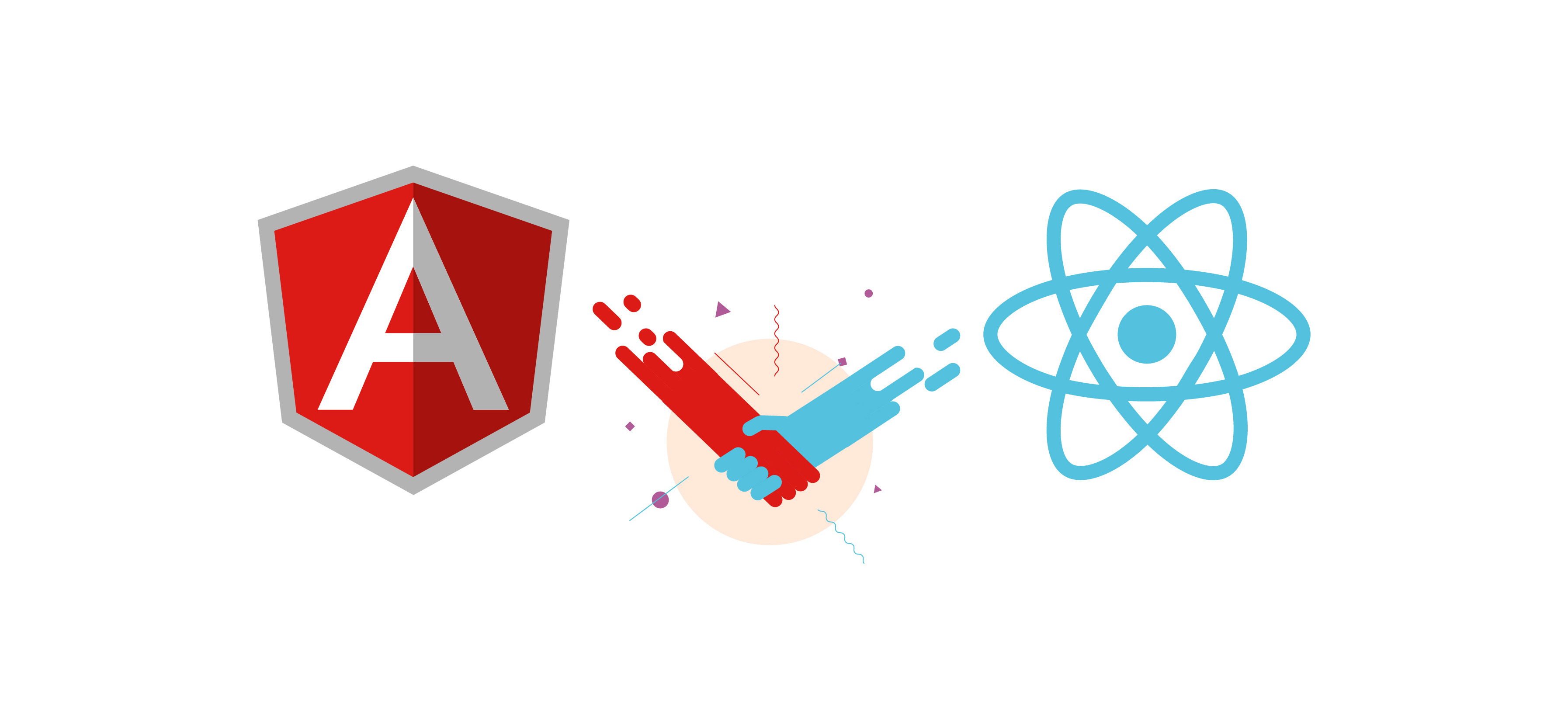 Image result for Angular or React